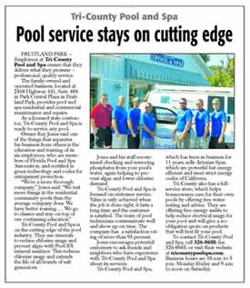 Pool Service Stays on Cutting Edge