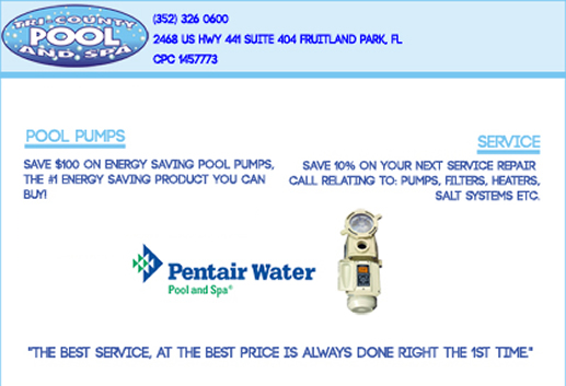 Pool Service, Cleaning and Pumps