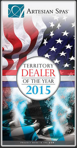 Artisan Spas Teritory Dealer of the year.